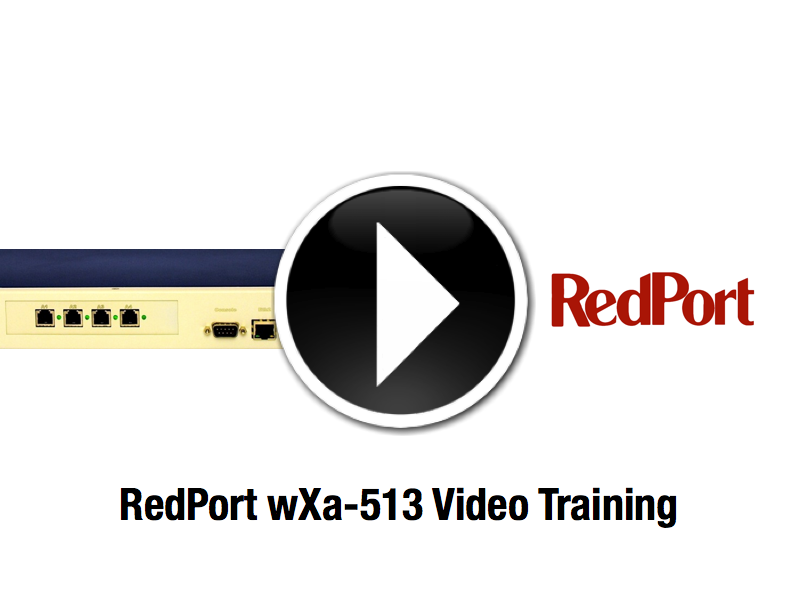 Video Training RedPort wXa-513 Satellite Router
