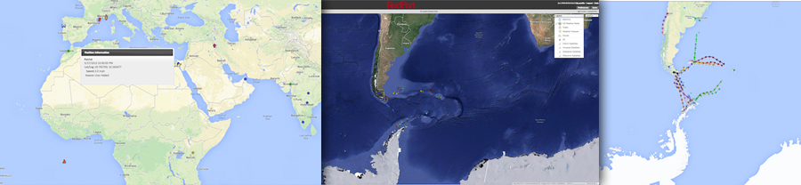 RedPort Satellite GPS Tracking Screenshots