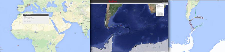RedPort Satellite GPS Tracking Screenshots